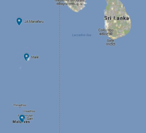 Astronomy archives maldives complete blog i was going to examine which parts of the maldives were the furthest from male without getting close to gan ive overlaid google maps gumiabroncs Image collections