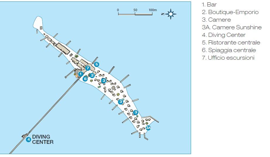 Maldives Resort Map Enlarged